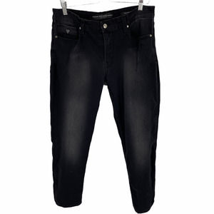Guess Mid Rise Slim Fit Tapered Black Jeans 36x30